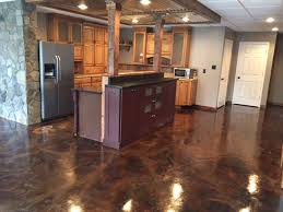 Basement Floor Stain by Basement Remodel Affordable Easy Flooring Direct Colors