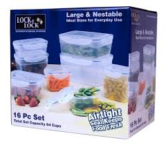 amazon com lock u0026 lock hpl343s16 16 piece polypropylene food
