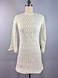 vintage 1960s gibson cotton lace mod go go dress mini twiggy