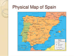 physical map of spain politics of spain