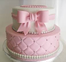 made fresh daily quilted pink and white baby shower cake baby