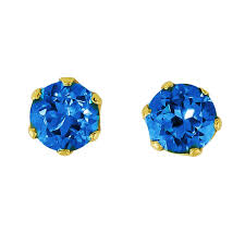 blue topaz stud earrings blue topaz stud earrings kaufmann de suisse