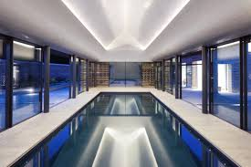 guncast indoor swimming pools with white and blue decors part of