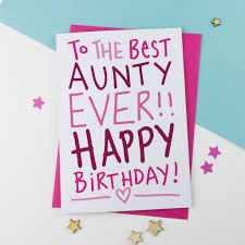 best ever auntie aunt aunty birthday card by a is for alphabet