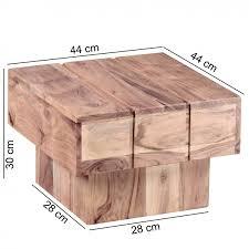 Wohnzimmertisch Uhr Wohnling Beistelltisch Sira Massivholz Akazie Wohnzimmertisch 44 X
