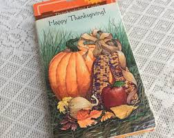 vintage thanksgiving cards etsy