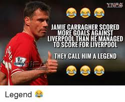 Jamie Meme - jamie carragher scored more goals against liverpool than he managed