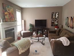 benjamin moore weimaraner taupe paint colour in living room wtih