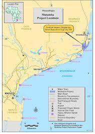 Mozambique Map Savannah Resources Mutamba Mineral Sands Project Mozambique