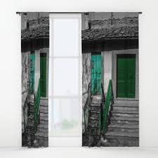 door window curtains society6