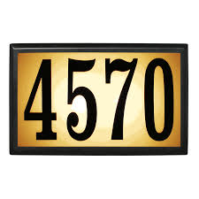 Lighted House Number Sign Baymont Estate Lighted Home Address Sign Low Voltage