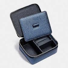 travel jewelry case images Coach leather travel jewelry case box black f66502 ebay jpg