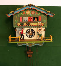 Cuckoo Clock Kit Vintage German Schmeckenbecher Chalet Painted Cuckoo Clock