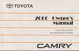2000 toyota camry owners manual toyota amazon com books