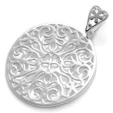 wholesale silver necklace pendants images 925 sterling silver filigreed square pendant wholesale 925express jpg
