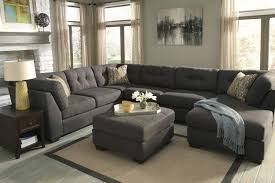Ashley Raf Sofa Sectional Delta City Steel 3 Piece Sectional Sofa With Left Arm Facing