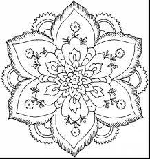 excellent nature flower mandala coloring pages mandela