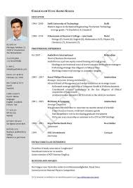 Modern Resume Samples by Resume Examples Of Modern Resume Contemporary Resume Template