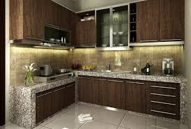 kitchen chic small kitchen with granite cabinets and dark color