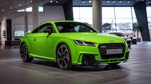 Audi R8 Green - 2017 audi tt rs in lime green looks like a tiny exotic car