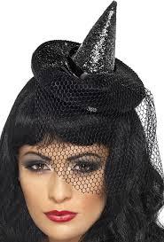 amazon com smiffy u0027s women u0027s mini glitter witches hat black one