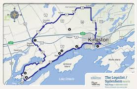Scenic Route Map by Motorcycling Visit Kingston Your Next Get Away Is Here