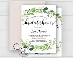 bridal shower invitation bridal shower invitation etsy