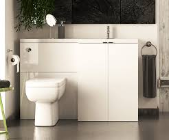 Combination Vanity Units For Bathrooms Mydesign White 1200 L Shaped Sink Toilet Sink Combination Unit Rh