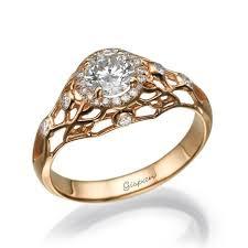 unique engagement ring rose gold ring antique engagement ring art