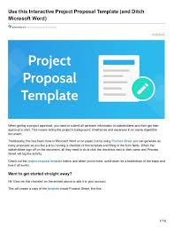 microsoft word project proposal template project proposal