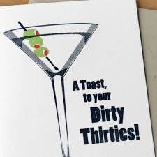 martini glass logo dirty 30s card by mcbittersons outer layer