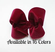 toddler hair bows 4 inch velvet hair bows hair bows for baby