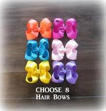 wholesale hairbows hair bows classic bows boutique hairbows lot set of 8