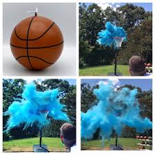 basketball gender reveal ball filled with pink or blue powder