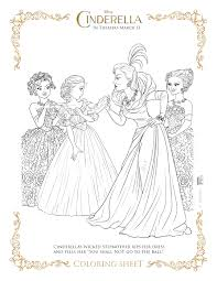 cinderella coloring pictures free printable pages kids