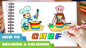 chef coloring pages i how to draw chefs cooking coloring books i