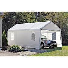 shelterlogic portable garage canopy carport 10 u0027 x 20 u0027 117083