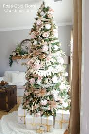 craftaholics anonymous pink and gold floral tree
