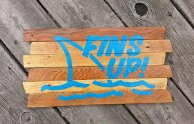 Jimmy Buffett Home Decor Fins Up Key West Sign Jimmy Buffett Music Painting On