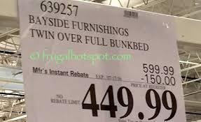 Bunk Beds Costco Costco Sale Bayside Furnishings Bunk Bed 449 99