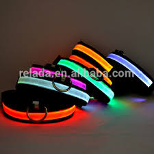 dog collar lights waterproof cheap pets product flash usb rechargeable waterproof led
