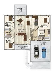 columbia estates neighborhood monogram homes 1309 color floor plan