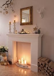 Wohnzimmer Ideen Kamin Kaminumrandung Wunderschön Dekorieren Mit Kerzen Und Winter Deko