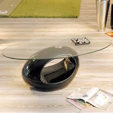 Wohnzimmerm El Creme Hochglanz Links 50100110 Couchtisch Schwarz Hochglanz Glastisch