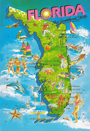 Florida Map Beaches State Of Florida Map