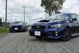 subaru minivan 2015 2015 ford mustang ecoboost vs subaru wrx autoguide com news