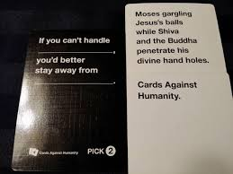 words against humanity cards 24 times cards against humanity was real