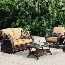 Outdoor Pation Furniture by Stunning Wicker Patio Furniture Sets Ikayaa 4pcs Wicker Cushioned