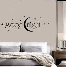 decal vinyl bedroom quote goodnight romance moon stars wall decal vinyl bedroom quote goodnight romance moon stars wall stickers ig1408
