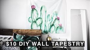 Cute Wall Tapestry Diy Wall Tapestry For 10 Urban Outfitters Inspired Youtube